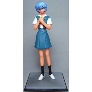 Neon Genesis Evangelion Collection Figure `Rei Colle` Vol.2 - Rie Ayanami School Uniform and Glasses