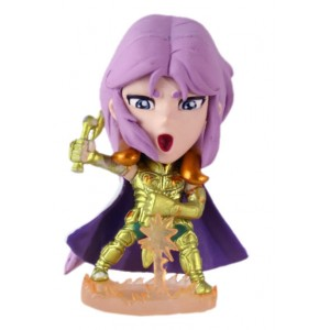 Saint Seiya mini big head (deformed) figure - chevaliers d'or Mû du bélier