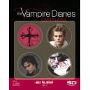 The Vampire Diaries Love Sucks 4 Badges (Set A)